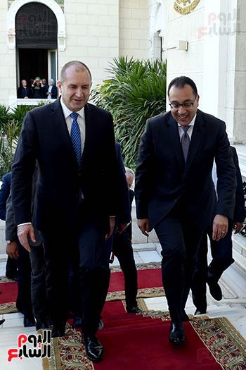 مصطفى مدبولى رئيس مجلس الوزراء ورومن راديف الرئيس البلغارى (3)