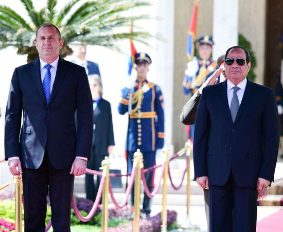 الرئيس عبد الفتاح السيسى مع نظيره البلغارى (1)