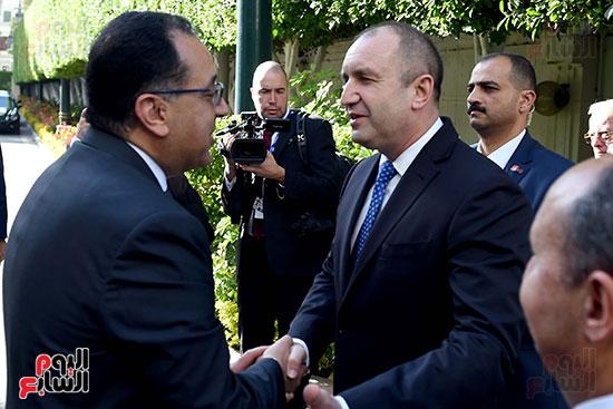 مصطفى مدبولى رئيس مجلس الوزراء ورومن راديف الرئيس البلغارى (2)