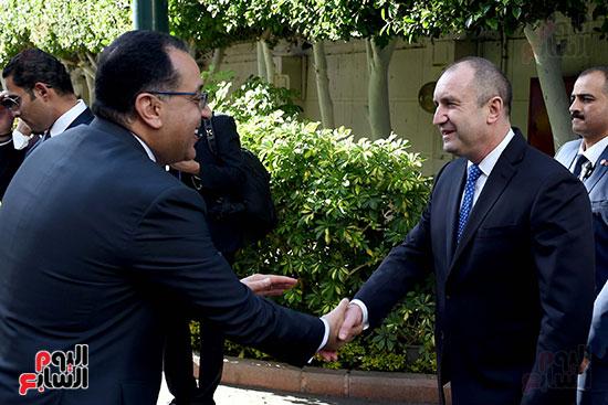 مصطفى مدبولى رئيس مجلس الوزراء ورومن راديف الرئيس البلغارى (1)