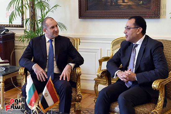 مصطفى مدبولى رئيس مجلس الوزراء ورومن راديف الرئيس البلغارى (6)