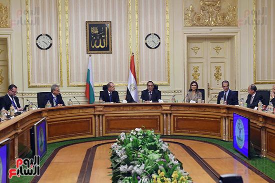 مصطفى مدبولى رئيس مجلس الوزراء ورومن راديف الرئيس البلغارى (14)
