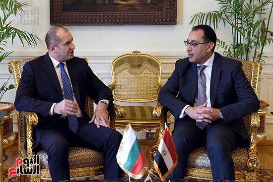 مصطفى مدبولى رئيس مجلس الوزراء ورومن راديف الرئيس البلغارى (7)