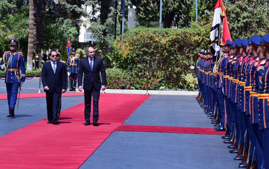 الرئيس عبد الفتاح السيسى مع نظيره البلغارى (2)