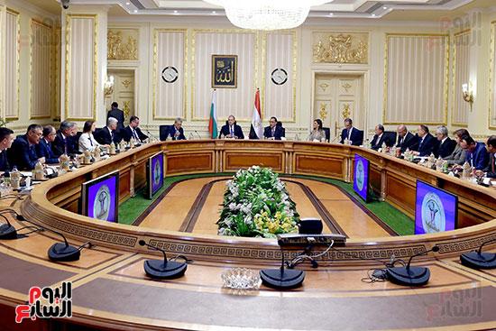 مصطفى مدبولى رئيس مجلس الوزراء ورومن راديف الرئيس البلغارى (13)