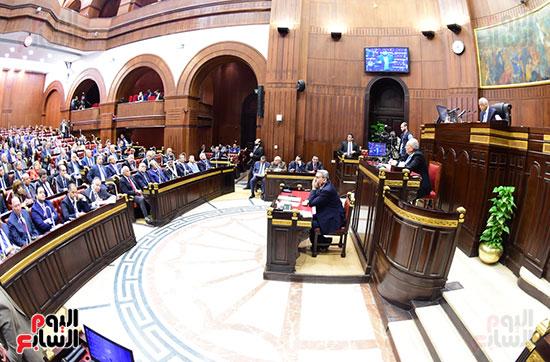 على عبد العال رئيس مجلس النواب يستمع أسئلة و لمقترحات رؤساء الأحزاب السياسية (5)