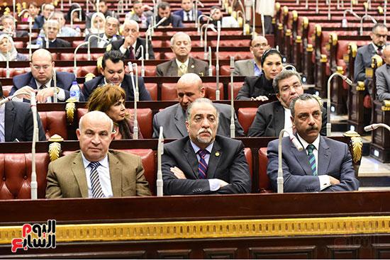 الدكتور على عبد العال رئيس مجلس النواب يستمع أسئلة و لمقترحات رؤساء الأحزاب السياسية ورجال السياسة وشباب الأحزاب حول تعديلات الدستور (7)