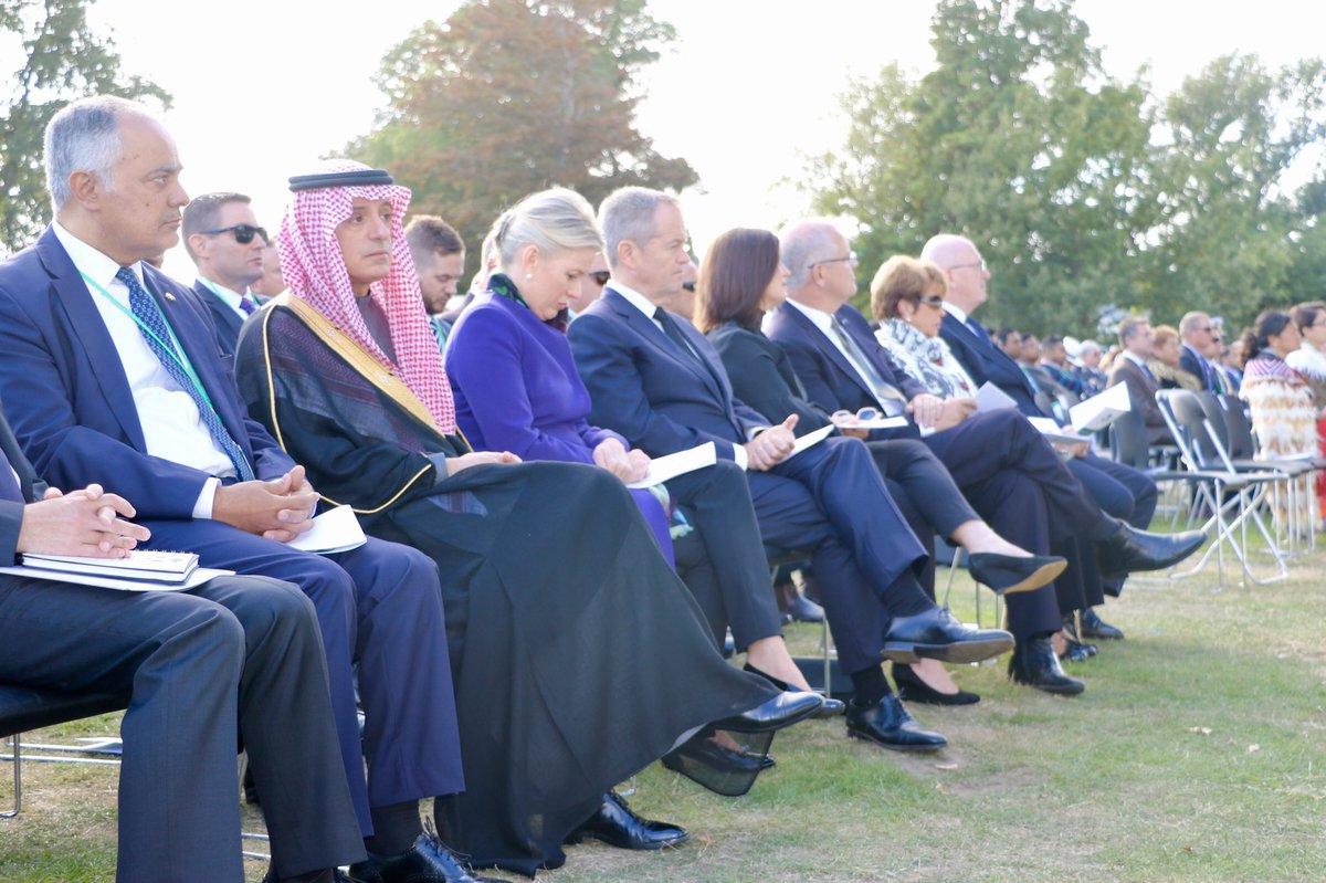عادل الجبير يشارك في مراسم تأبين ضحايا الحادث الإرهابي في نيوزيلندا