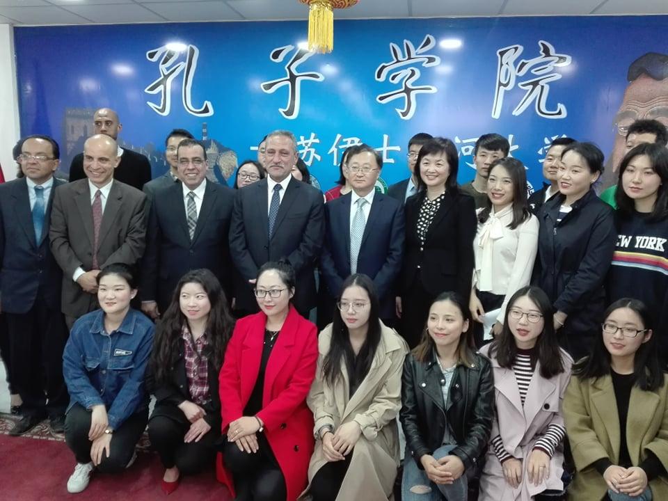 قنصل الصين والمحافظ فى الجامعة (4)