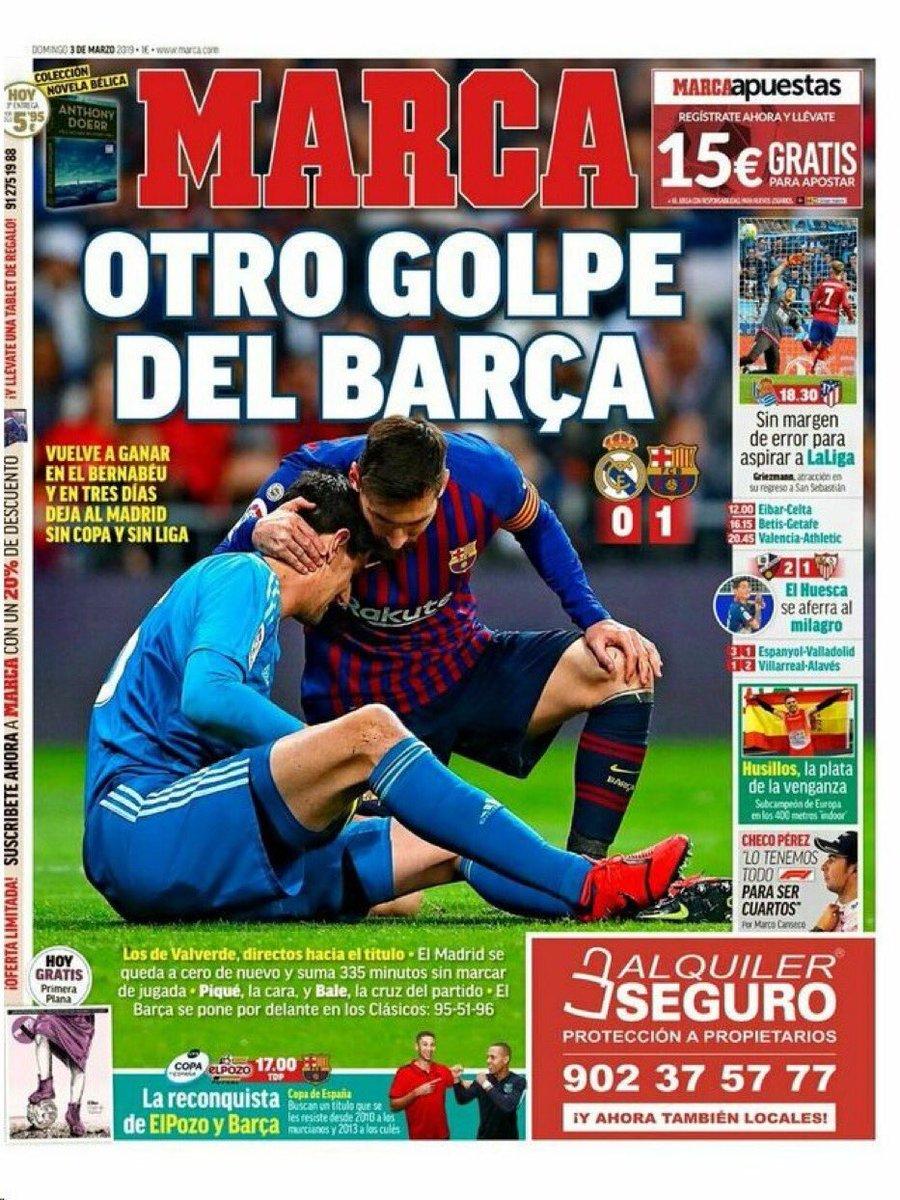 6af87ada123af هيمنة برشلونة ضد ريال مدريد حديث الصحافة الإسبانية.. فيديو وصور ...