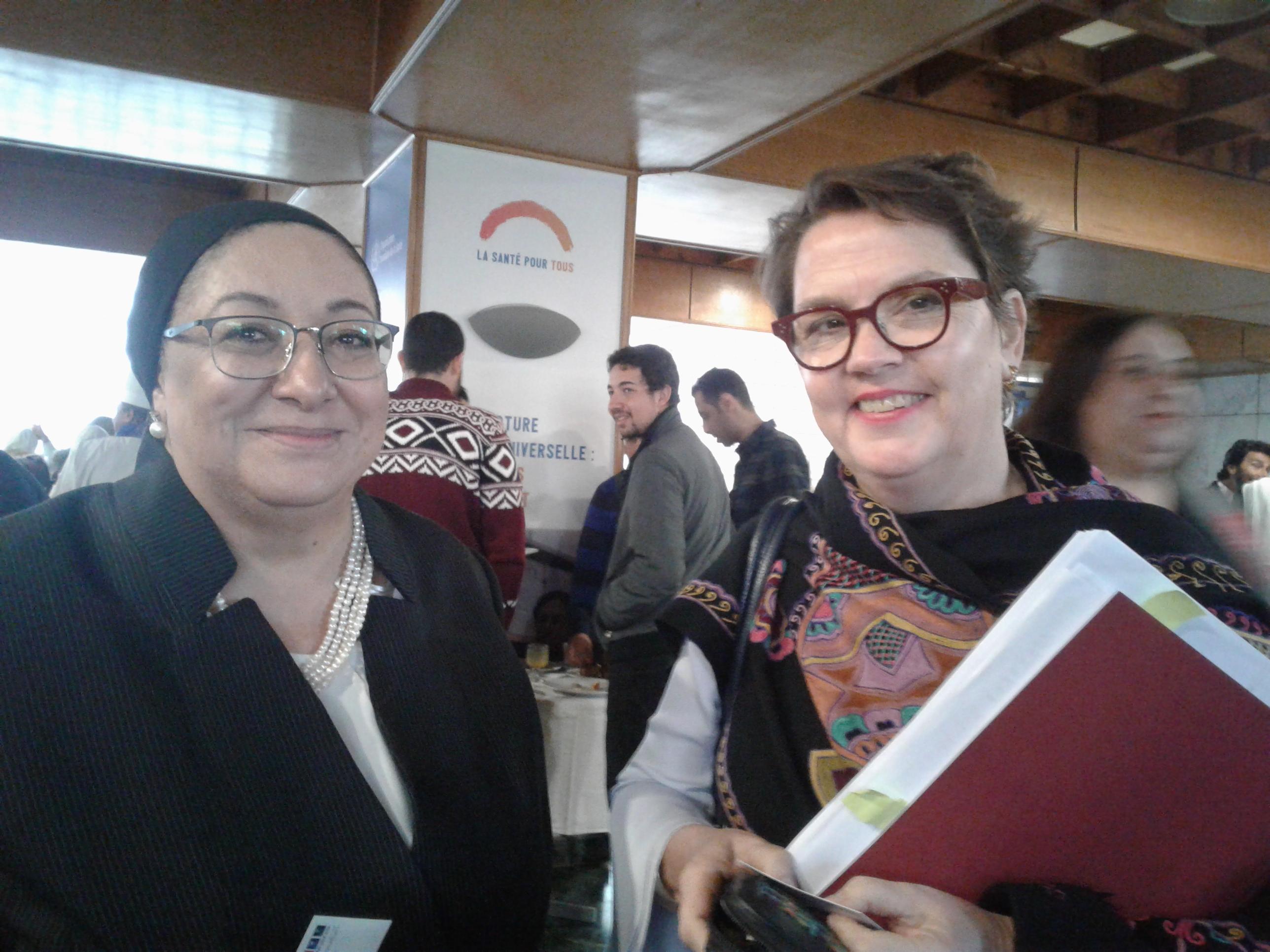 كريستينا البرتين مع الدكتورة مها الرباط وزير الصحة الاسبق