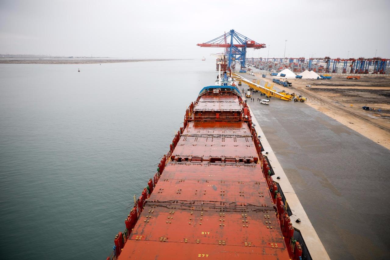 الرصيف الجديد بميناء شرق بورسعيد