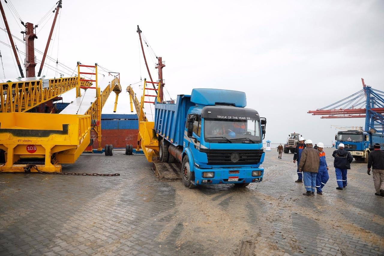 الأرصفة الجديدة بميناء شرق بورسعيد
