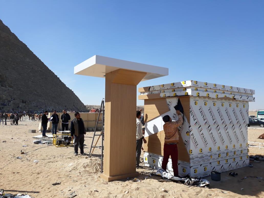 وحدات خدمية بمنطقة آثار الهرم (7)
