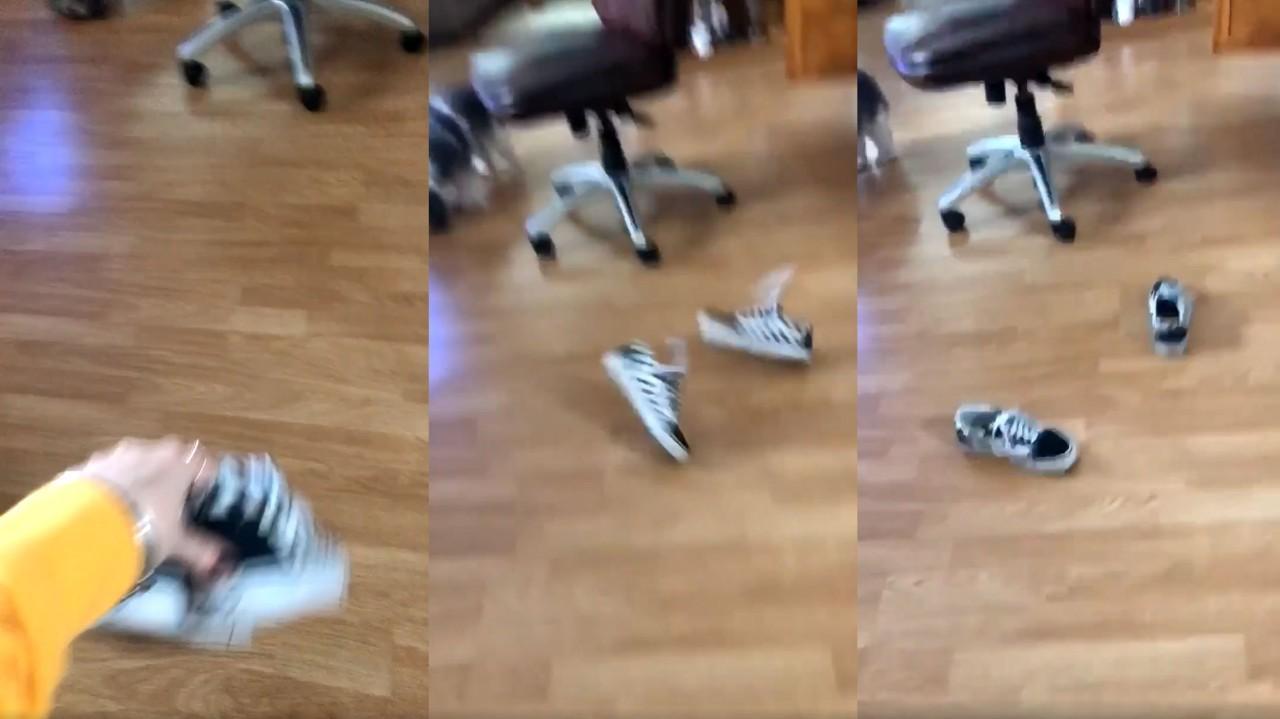 تحدى قذف الحذاء (1)