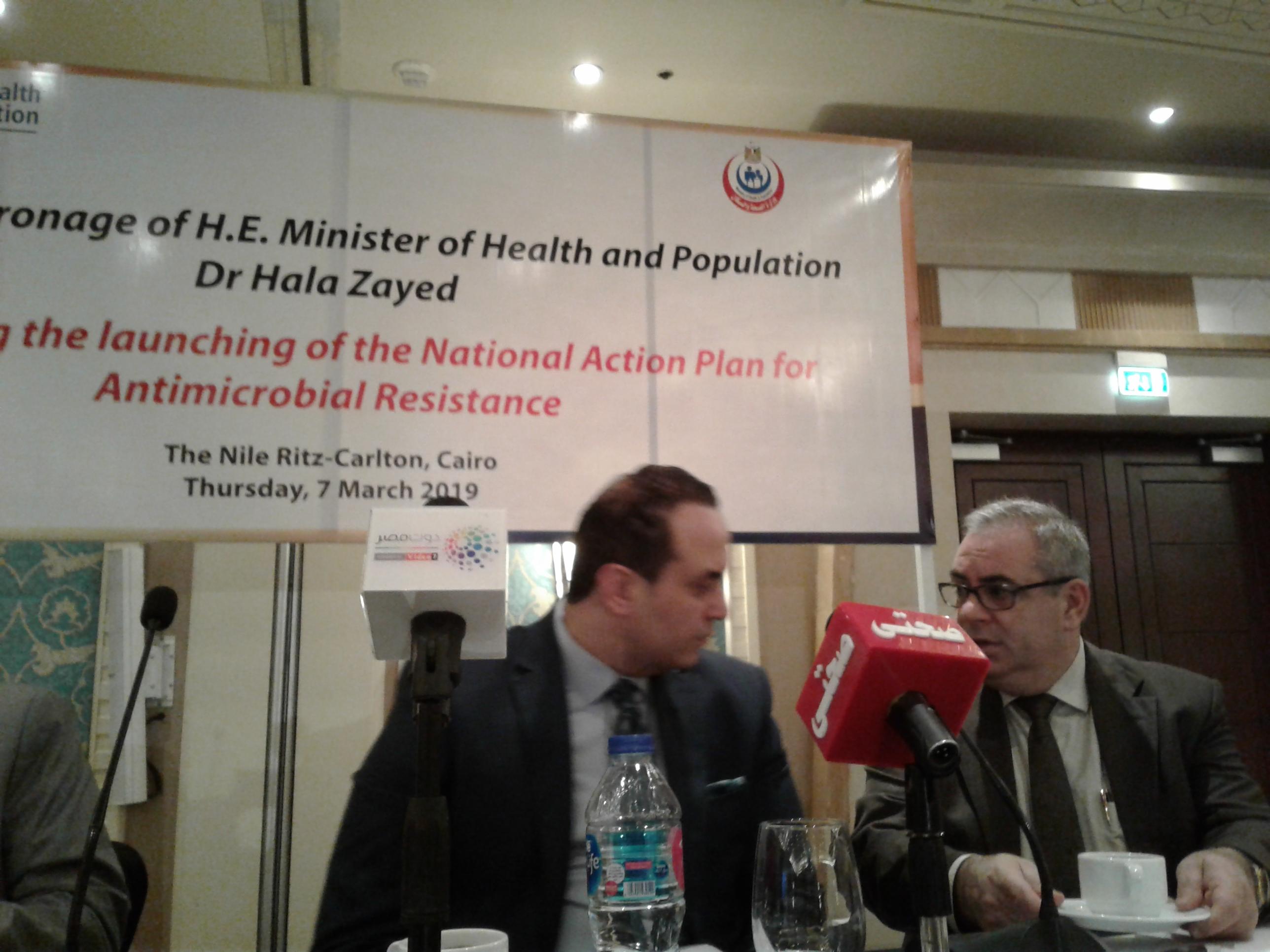 جانب من احتفالية إطلاق الخطة القومية لمكافحة الميكروبات المقاومة للمضادات الحيوية (7)