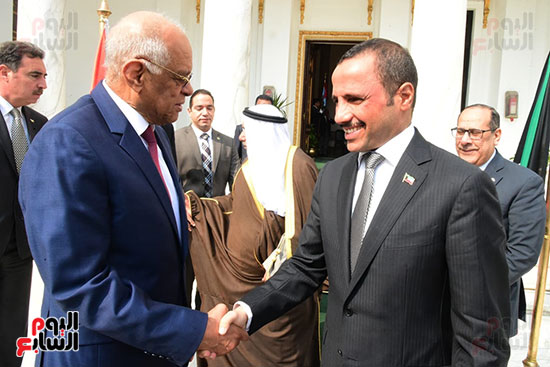 على عبد العال يستقبل مرزوق على الغانم رئيس مجلس الأمة الكويتى (4)