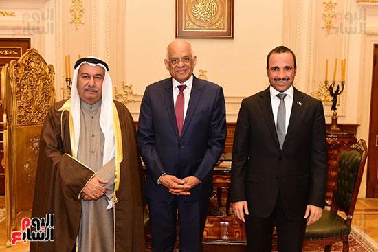 على عبد العال يستقبل مرزوق على الغانم رئيس مجلس الأمة الكويتى (2)