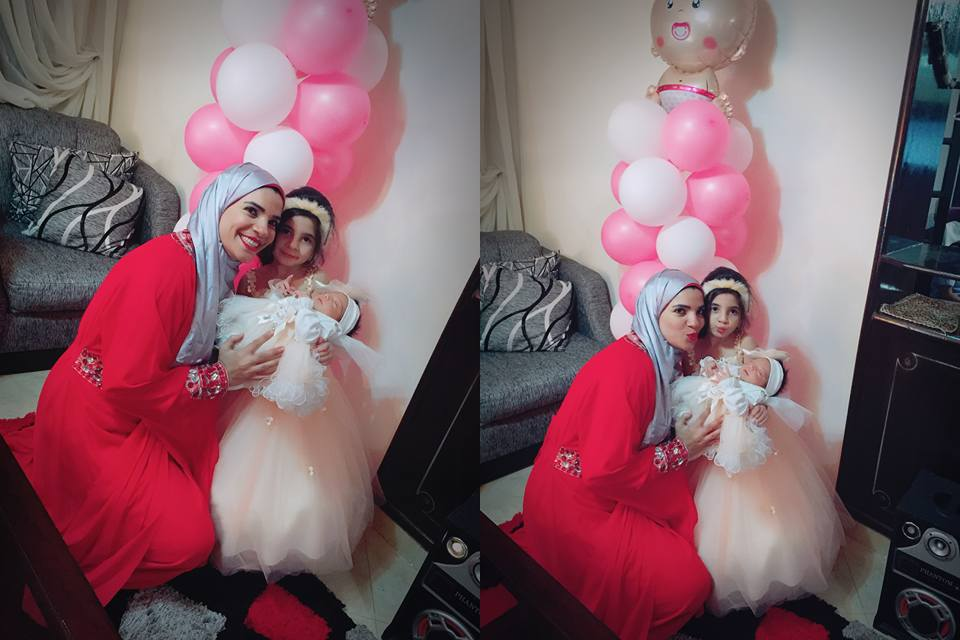 مع ابنتها الكبرى