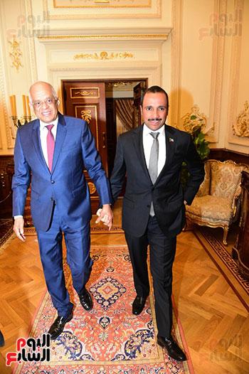 على عبد العال يستقبل مرزوق على الغانم رئيس مجلس الأمة الكويتى (3)