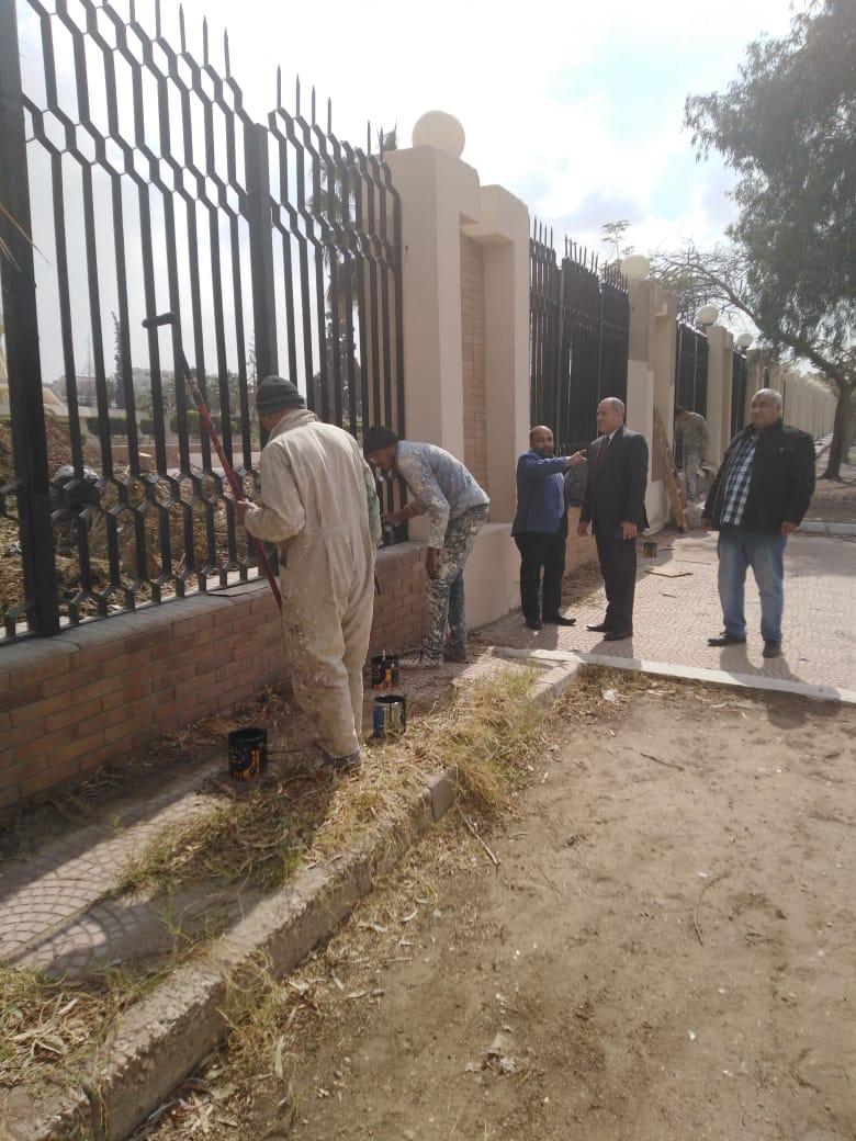 جهود محافظة القاهرة لتطوير محيط استاد القاهرة  (2)