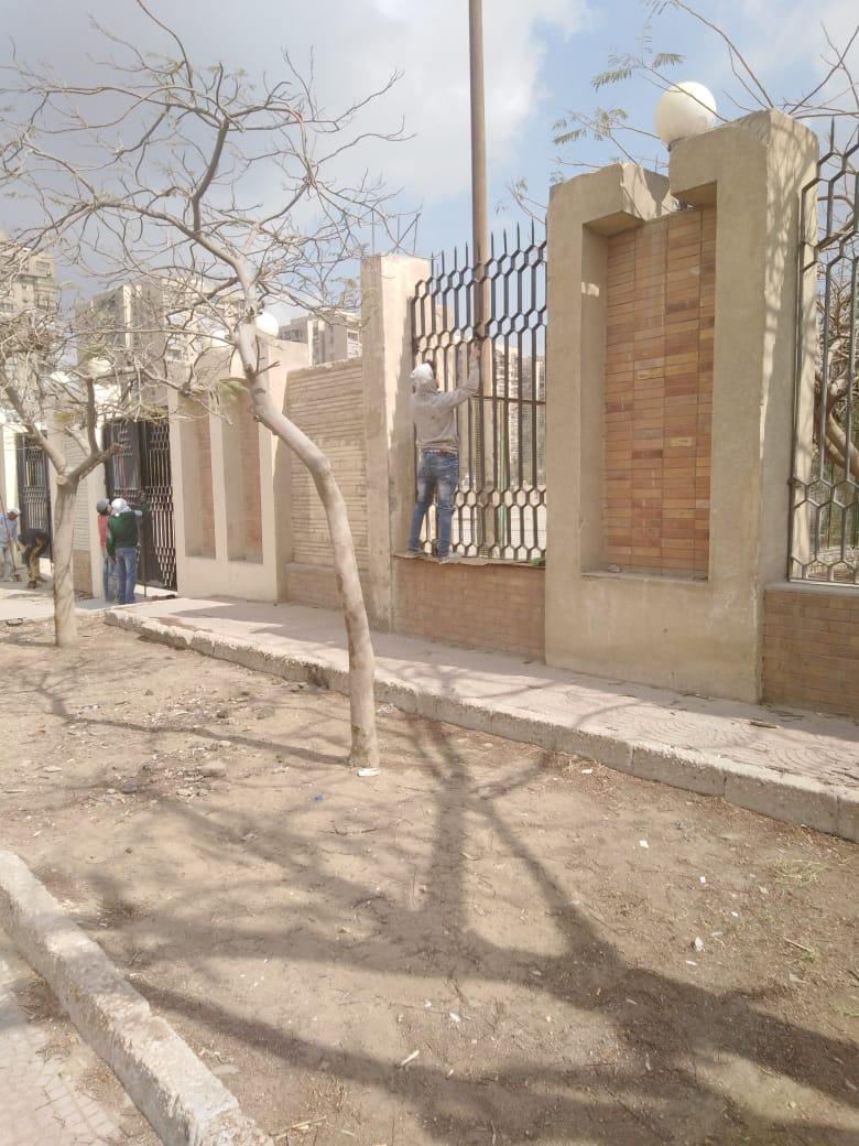 جهود محافظة القاهرة لتطوير محيط استاد القاهرة  (5)