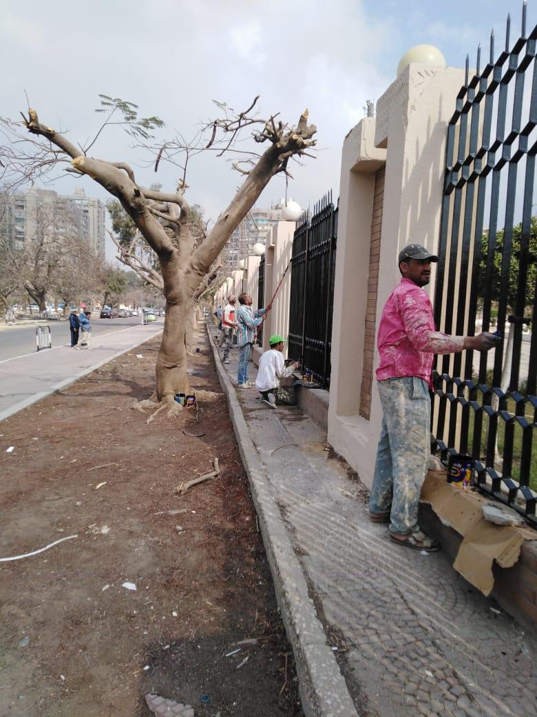 جهود محافظة القاهرة لتطوير محيط استاد القاهرة  (3)
