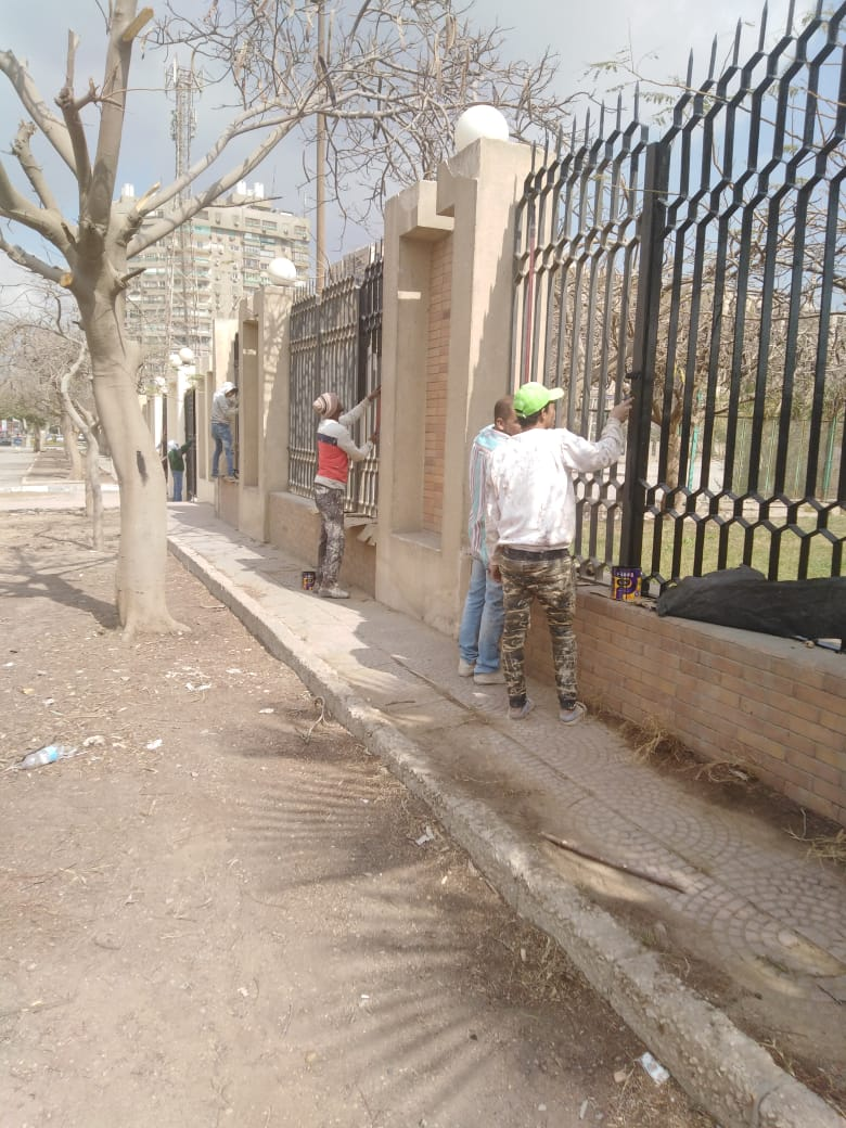 جهود محافظة القاهرة لتطوير محيط استاد القاهرة  (7)