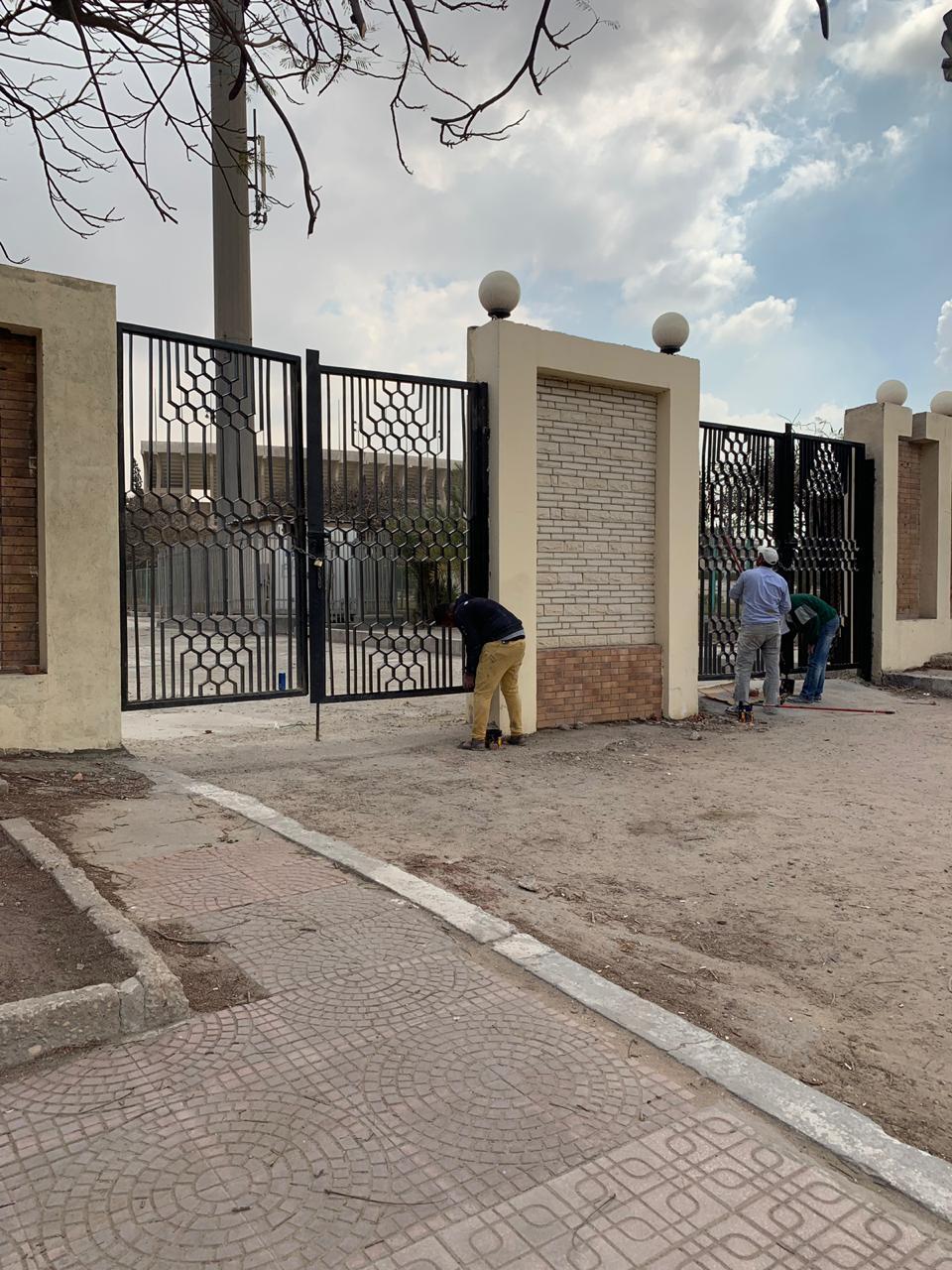 جهود محافظة القاهرة لتطوير محيط استاد القاهرة  (4)