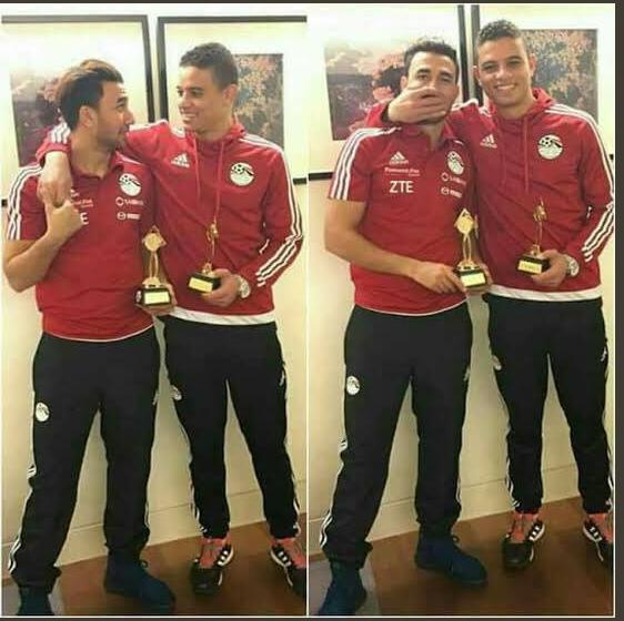 سعد سمير ومحمود تريزيجيه مع المنتخب المصرى