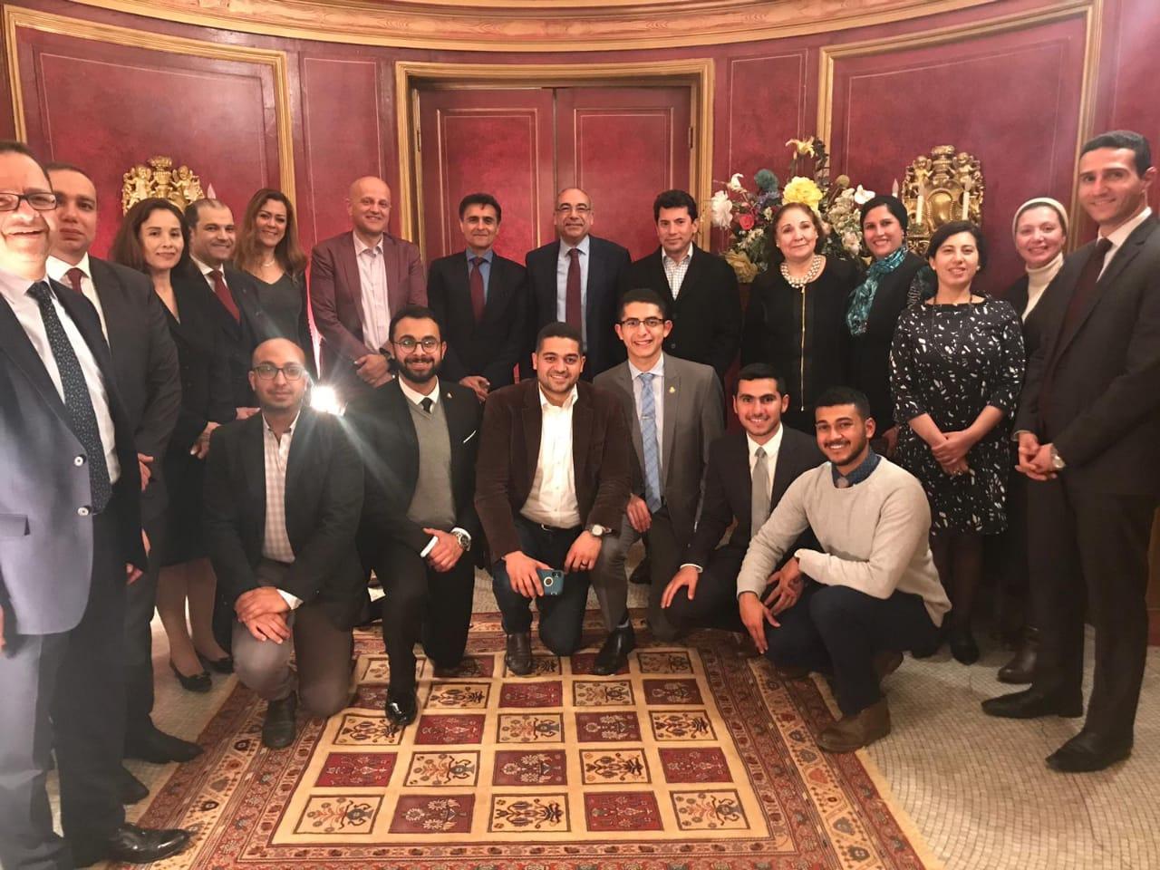 الوزير و سكرتير صندوق الامم المتحدة و سفير مصر