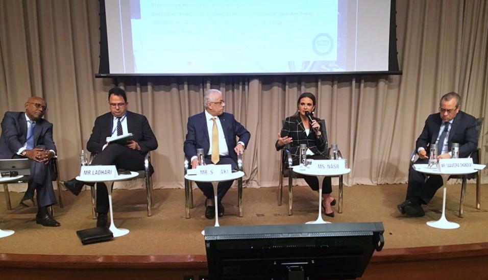 وزيرة الاستثمار ووزير التعليم يعرضا تجربة مصر في البنك الدولى  (3)