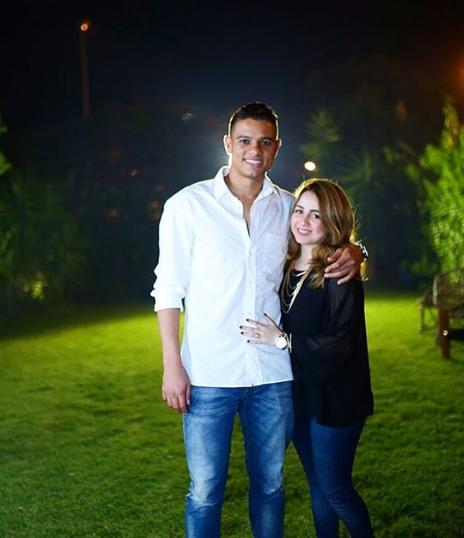 سعد سمير وزوجته