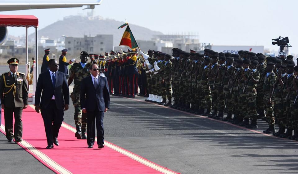 السيسى يصل العاصمة السنغالية داكار (2)