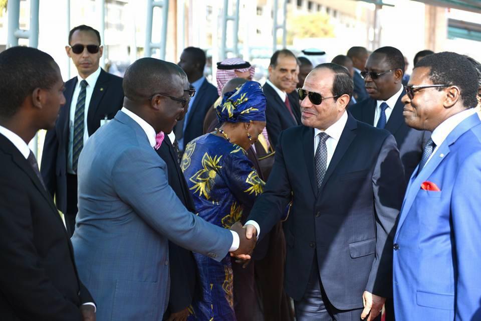السيسى يصل العاصمة السنغالية داكار (1)