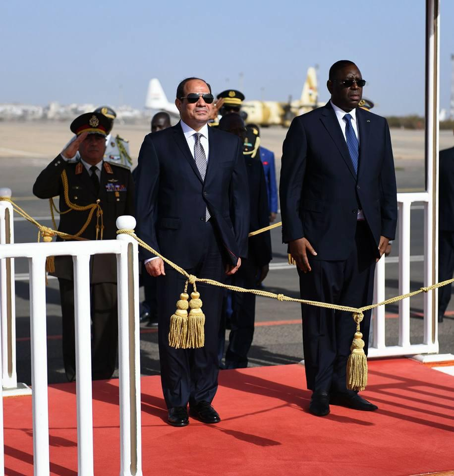 السيسى يصل العاصمة السنغالية داكار (4)