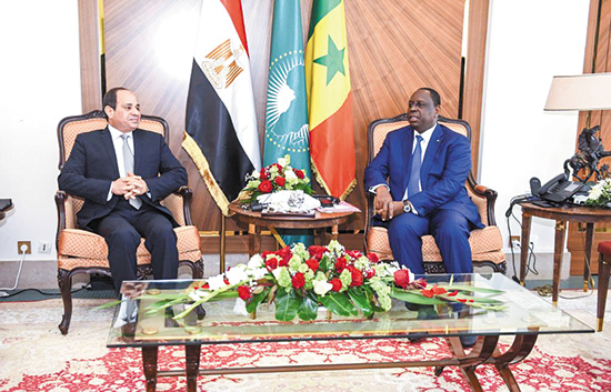 السيسى يختتم جولته الخارجية بزيارة داكار