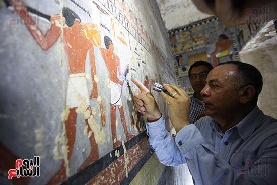 مقبرة خوى أحد النبلاء فى مصر  فى سقارة (13)