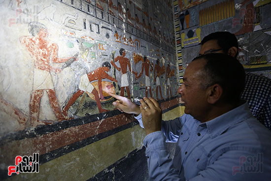 مقبرة خوى أحد النبلاء فى مصر  فى سقارة (15)