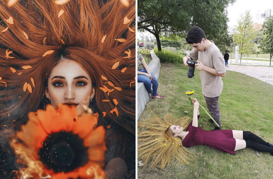 استخدام الحدائق العامة فى التصوير الفوتوغرافى