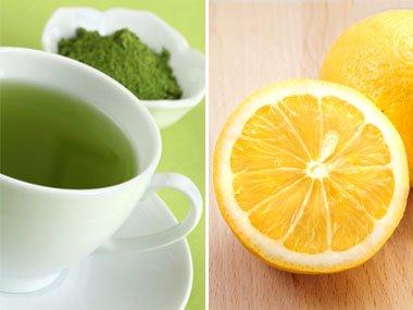 شاى أخضر مع الليمون