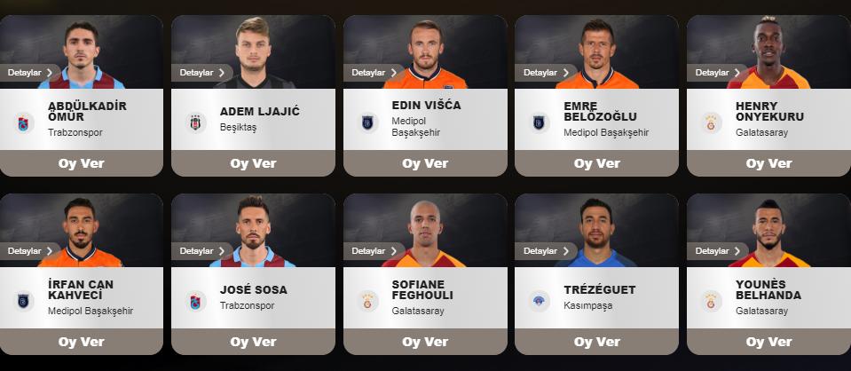 تريزيجيه مرشيح لجائزة أفضل جناح في الدوري التركي