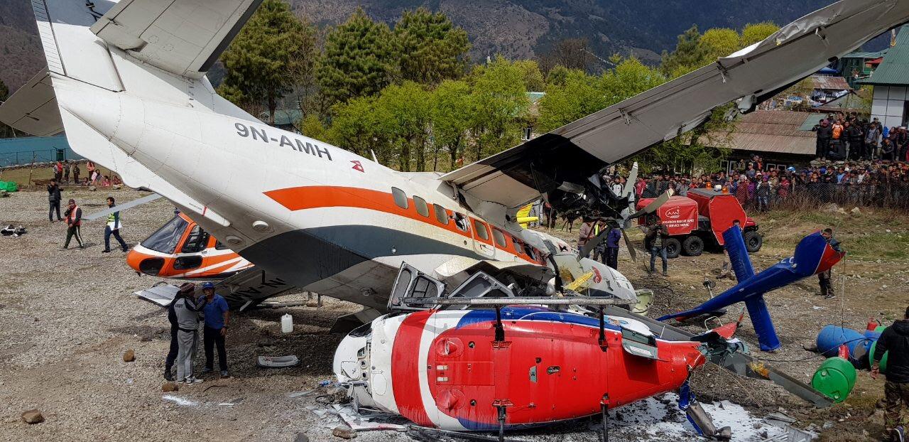 طائرة سقطت بنيبال