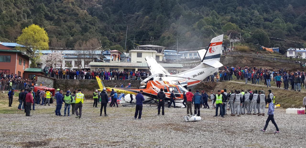 موقع سقوط الطائرة