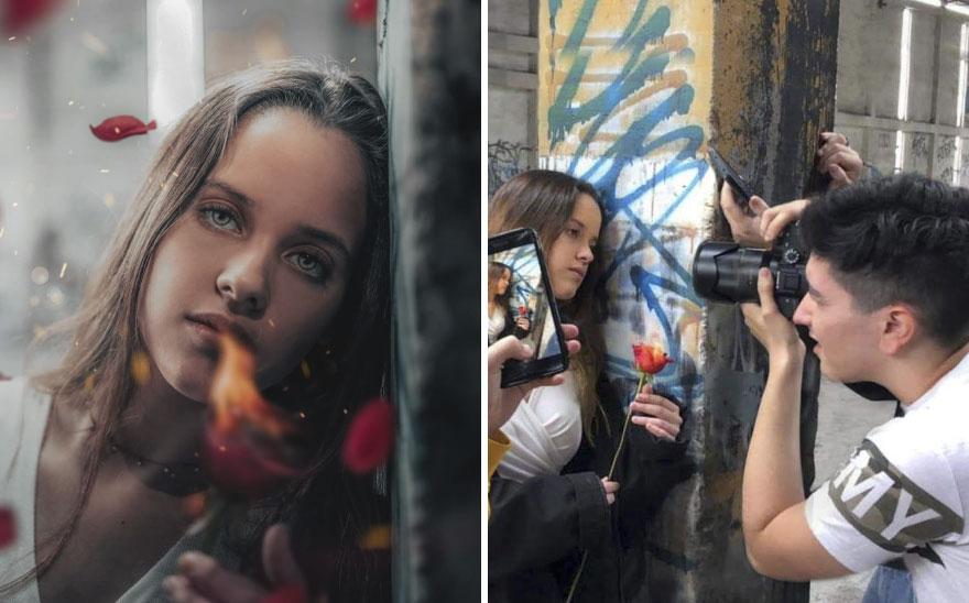 سيناريوهات صنع الصور الفوتوغرافية الرومانسية