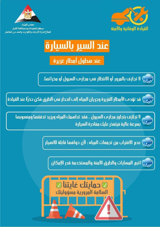 إرشادات القيادة الآمنة فى حالة سقوط الأمطار (3)
