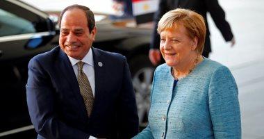 الرئيس عبد الفتاح السيسي رئيس الجمهورية - المستشارة الألمانية أنجيلا ميركل