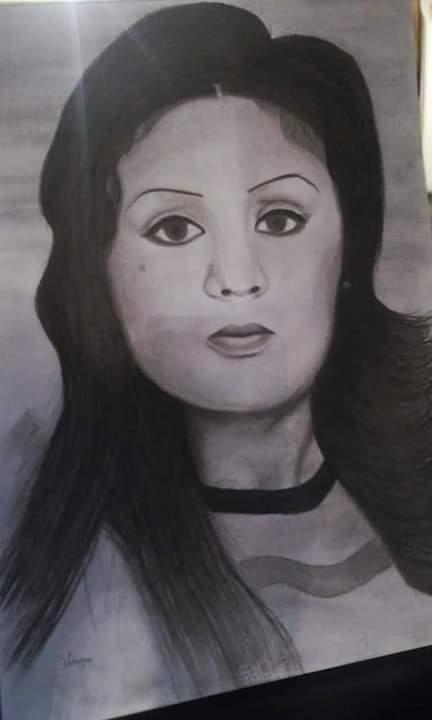 فتاة من الغربية تبدع فى الرسم (4)