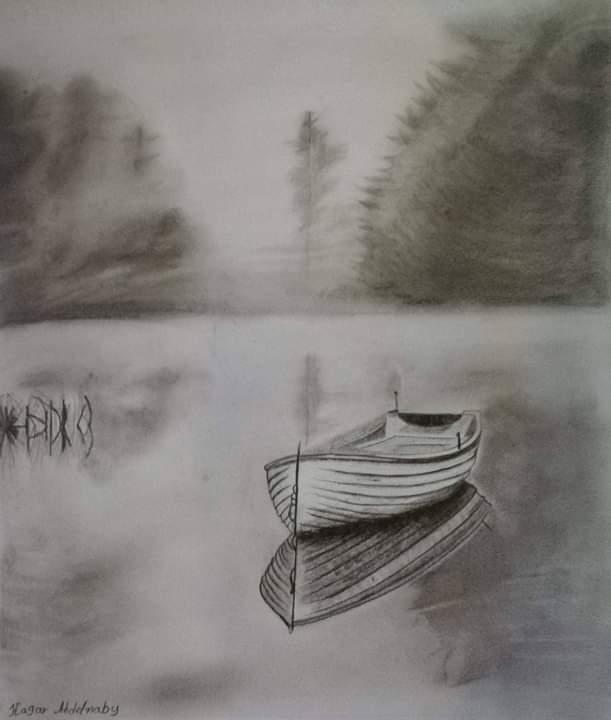 فتاة من الغربية تبدع فى الرسم (9)