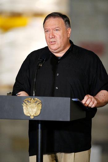 وزير خارجية امريكا بالرئيس الكولومبى (11)